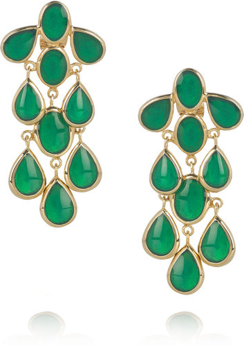 Isharya Mirror Splash 18-karat gold-plated enamel earrings