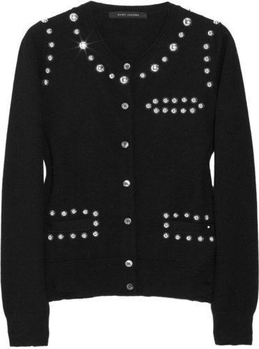 Marc Jacobs Embellished wool and cashmere-blend cardigan