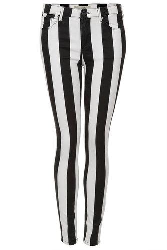 MOTO Stripe Leigh Jeans