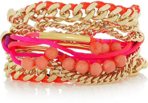 Assad Mounser Shiprock gold-plated multi-chain bracelet