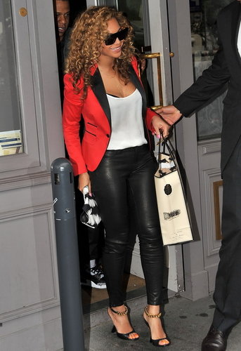 5 Pocket Leather Legging in Noir - as seen on Beyonce - by J Brand