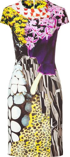 Mary Katrantzou Multicolor Print Silk Dress