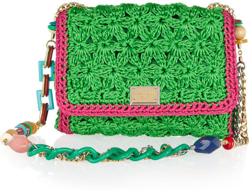 Dolce & Gabbana Crocheted shoulder bag