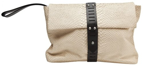 Allibelle PYTHON MOHAWK CLUTCH BAG