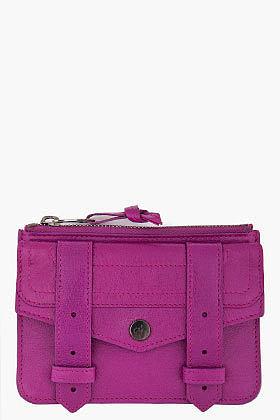 PROENZA SCHOULER PS1 Small Purple Zip Wallet