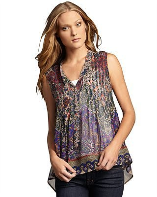 Joie Wyeth Paisley-Print Blouse