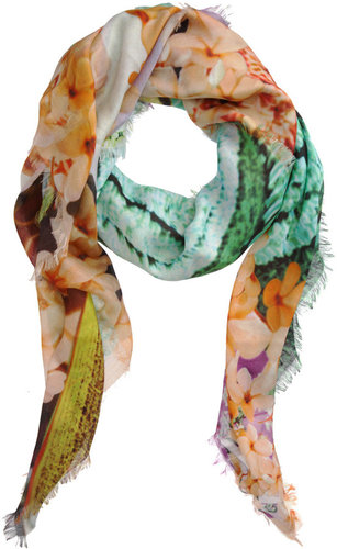 Mary Katrantzou Balalaika Green Scarf