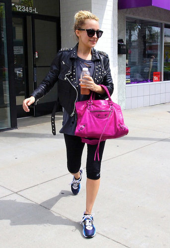 Simone Leather Jacket with Studs - as seen on Nicole Richie - by SIMONE