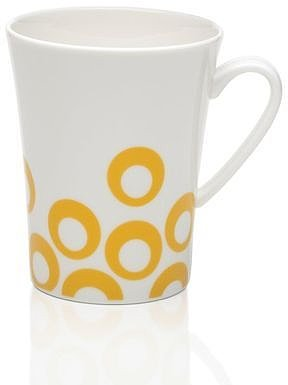 Circle Chic Yellow Mug