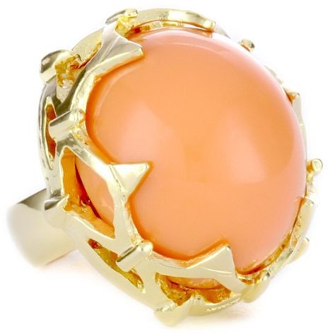 "Rachel Leigh ""Primrose"" Coral Rock Ring"