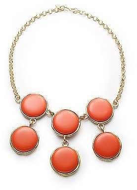 Resin Bib Necklace/Coral