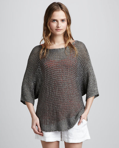 Vince Metallic Knit Sweater