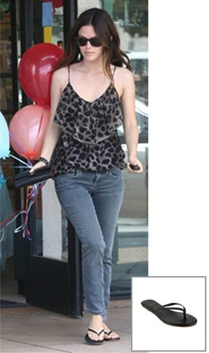 Liner Leather Sandal - as seen on Rachel Bilson - by Tkees