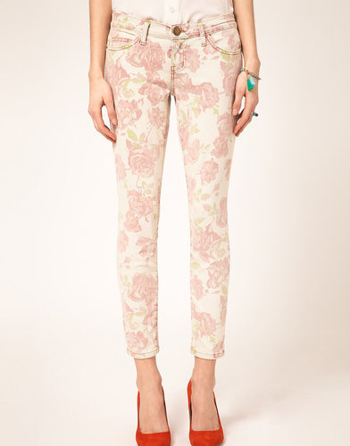 Current/Elliott Stiletto Skinny Jeans In Floral Print