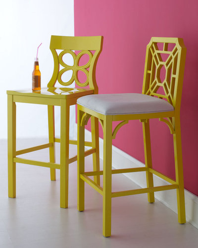 Lilly Pulitzer Home Yellow Barstools