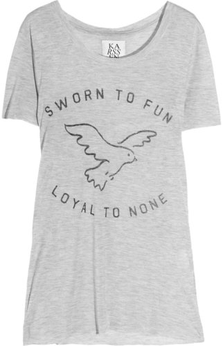 Zoe Karssen Sworn To Fun Loyal To None jersey T-shirt