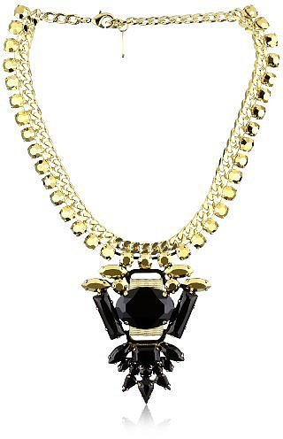 "LK Designs ""Pacific Chic"" Crystal Rock Necklace"