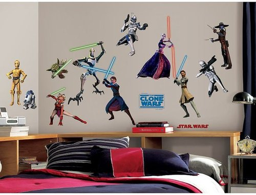 Star wars the clone wars wall stickers