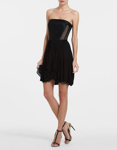 BCBGMAXAZRIA Reyna Strapless Pleated Dress
