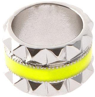 ASOS Enamel And Pyramid Ring