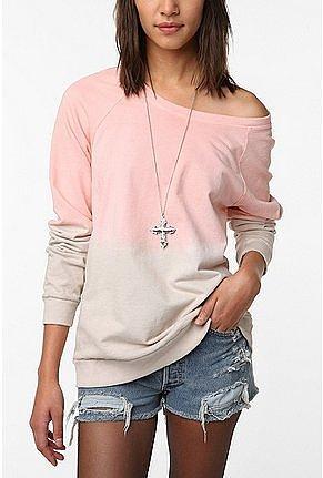 Mouchette Dip Dye Pullover Sweatshirt