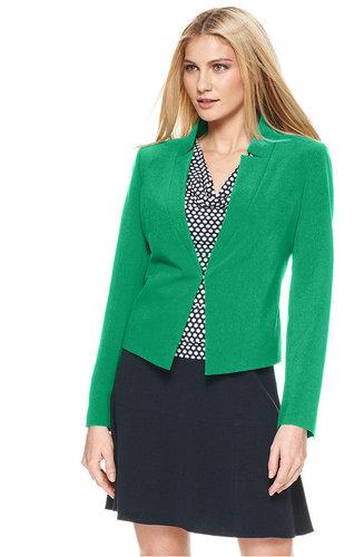 Calvin Klein Jacket, V Neck Long Sleeve Fitted Blazer