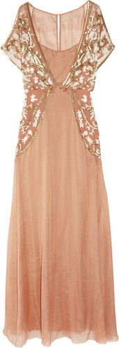 Temperley London Sefarina embellished silk gown