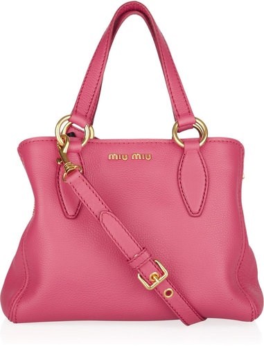 Miu Miu Grained-leather tote