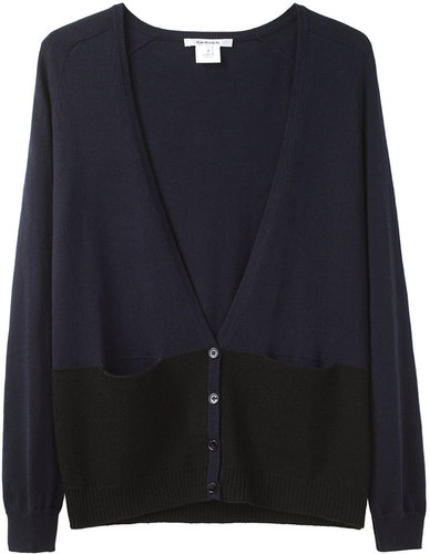 Carven / Bi-Fabric Colorblock Cardigan