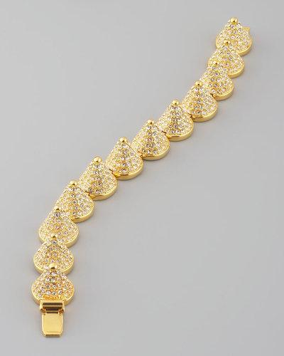 Eddie Borgo Pave Cone Bracelet, Golden