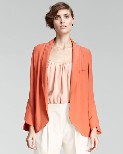 Chloe Crepe Shawl-Collar Jacket