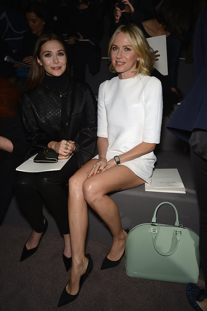 Naomi Watts sat with Elizabeth Olsen.