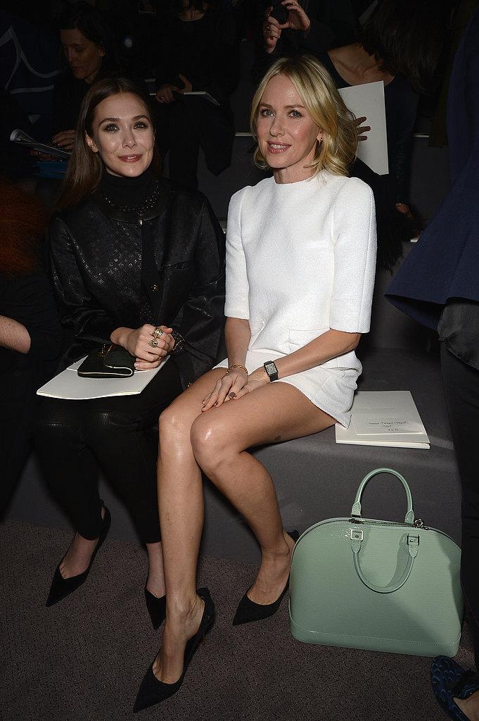 Naomi Watts sat with Elizabeth Olsen.