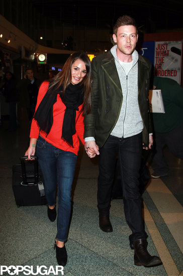 Lea Michele and Cory Monteith Land in NYC Hand in Hand