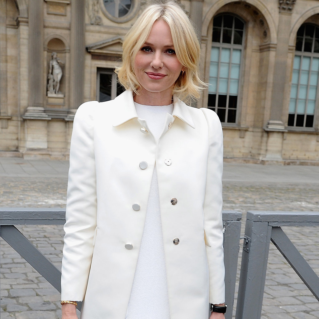 Naomi Kvetinas: Celebs Front Row Paris Fashion Week: Naomi Watts Zoe