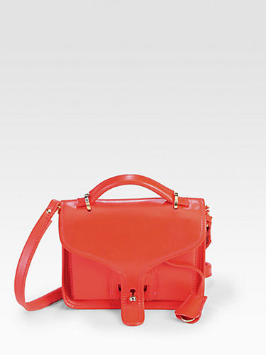 Opening Ceremony Leather LA Small Top Handle Bag