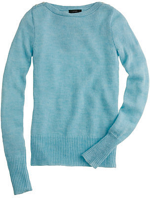 Buttoned boatneck sweater
