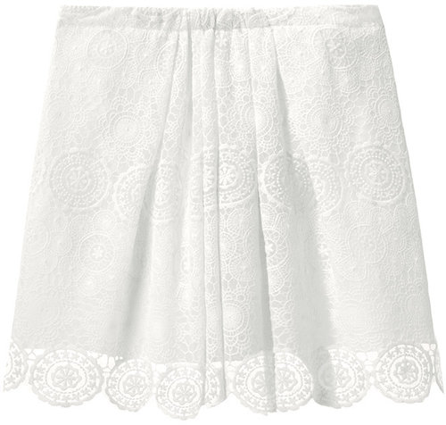 Girl by Band of Outsiders / Lace Mini Skirt