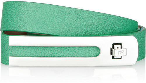Diane von Furstenberg Ava textured-leather belt