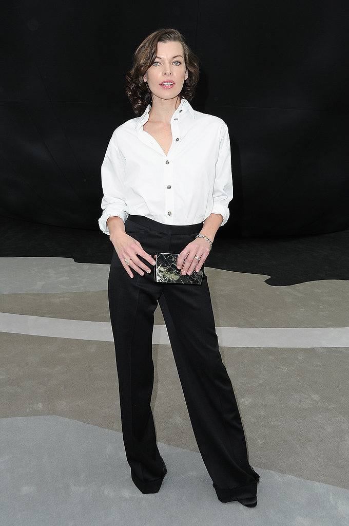 Milla Jovovich at Chanel.