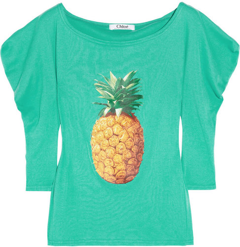Chloé Ananas printed cotton T-shirt