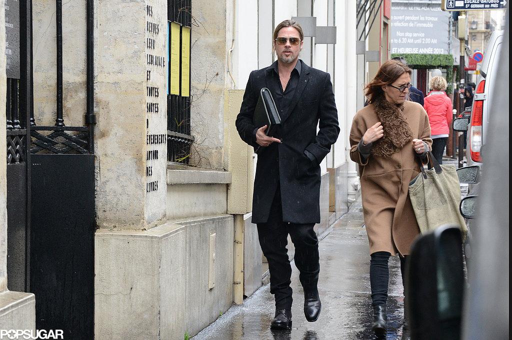 Brad Pitt wore all black.
