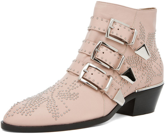 Chloe Susanna Studded Bootie in Nude Pink