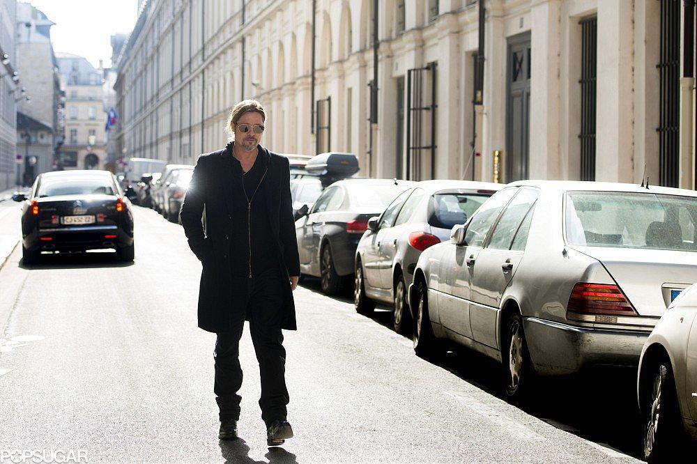 Brad Pitt Celebrates His Wine Success in Paris!