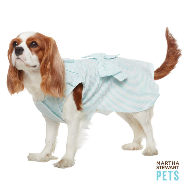 Your girlie girl can show off one of Spring's biggest trends, pastel hues, in this Martha Stewart Pets Bow Dog Dress ($16, originally $20).