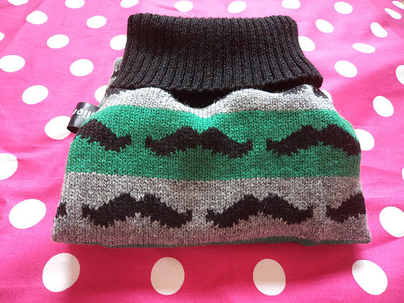 This quirky mustache-print sweater ($42) is a great example of the cheeky-sweater trend of the Winter but could still take your dog well into the cold early days of Spring.