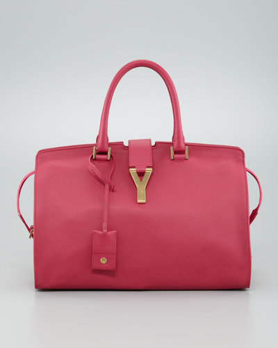 Saint Laurent Y Ligne Medium Soft Leather Bag, Fuchsia