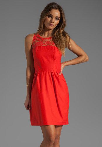 BB Dakota Mandy Sateen/Lace Dress