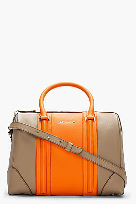 GIVENCHY Light brown New Line Bi Color tote