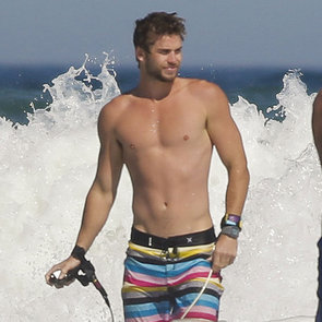 Shirtless Liam Hemsworth Pictures in Australia